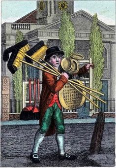 William Marshall Craig's Itinerant Traders of London in their Ordinary Costume with Notices of Remarkable Places given in the Background from 1804.