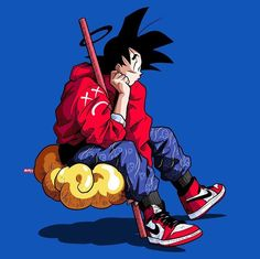 Goku on Nimbus Cloud Anime Dragonball Z Dragon Ball Z, Dragon Girl, Hypebeast, Head In The Clouds, Supreme Wallpaper, Dope Art, Animes Wallpapers, Anime Comics, Anime Style