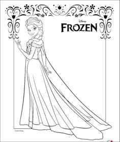 dibujos para colorear de elsa de frozen imagenes de frozen
