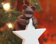 White Star Teddy Bear Ornament