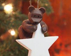 White Star Teddy Bear Ornament