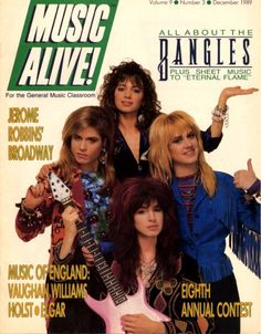 The Bangles on the Cover of Music Alive!, Volume 9, Number 3, December 1989.