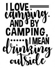 Download Bonfire Beer Digital SVG File   Silhouette   Camping signs ...