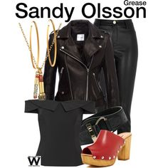 Inspired by Olivia Newton John as Sandy Olsson in 1978's Grease