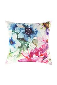 WATER COLOUR PANSY 45X45CM SCATTER CUSHION