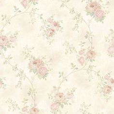 "Brewster Home Fashions Meadowlark Chiswick Trail 33' x 20.5"" Hydrangea 3D Embossed Wallpaper Color: Blush"