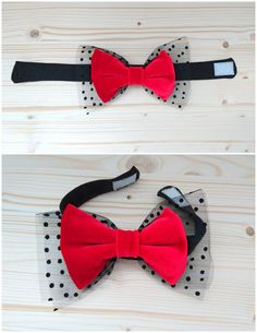 Dog Accessories Puppys Cat Bow Tie Collar Velvet and Tulle Dog Bow tie Pet Bow by PinkBau.Dog Accessories Puppys Cat Bow Tie Collar Velvet and Tulle Dog Bow tie Pet Bow by PinkBau Cat Bow Tie, Bow Tie Collar, Dog Clothes Patterns, Sewing Patterns, Dog Crafts, Dog Items, Creation Couture, Dog Bows, Pet Costumes