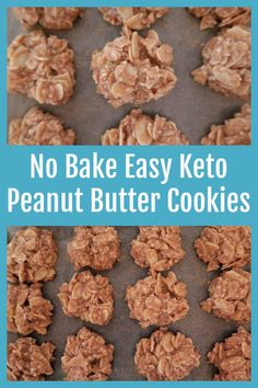 Keto No Bake Peanut Butter Cookies Recipe – How To Make Easy Homemade Low Carb Sugar Free Cookies Recipes – with the video tutorial. No Bake Cookies Recipe Peanut Butter, Sugar Free Cookie Recipes, Sugar Free Cookies, Keto Cookies, Low Carb Recipes, Real Food Recipes, Diet Recipes, Real Food Cafe, Easy Keto Meal Plan