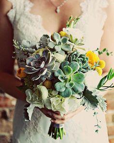 succulent bouquets. I dig.
