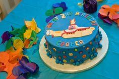 Beatles Yellow Submarine birthday cake
