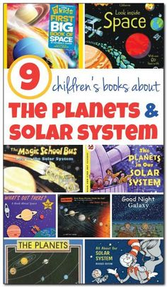 Space: ELA 9 children's books about the planets and our solar system, including books that will be enjoyed by kids from toddlers through late elementary school. Such great ideas for introducing kids to the wonder that is our solar system! Space Solar System, Solar System Planets, Our Solar System, Space Activities, Science Activities, Science Books, Sequencing Activities, Science Projects, Preschool Science