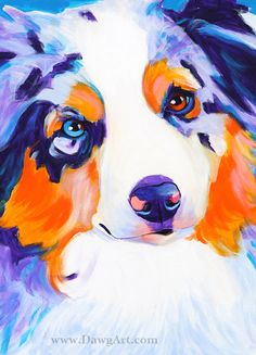 Print of Colorful Aussie Painting by Alicia VanNoy Call. Original was acrylic on canvas. This bright, happy artwork will make a wonderful