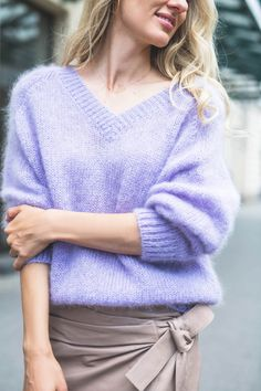 Sweter Holly Pullover, Model, Sweaters, Fashion, Lilac, Moda, Fashion Styles, Sweater, Sweater