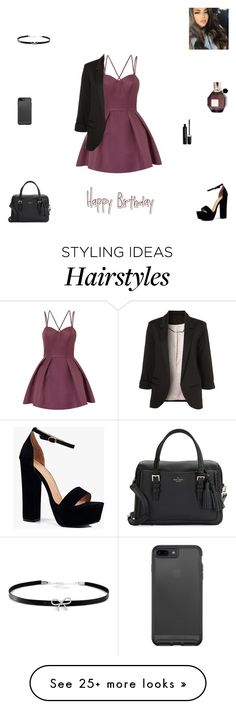 """my 17th birthday"" by synclairel on Polyvore featuring Chi Chi, Boohoo, Kate Spade, Giani Bernini, Marc Jacobs, Viktor & Rolf, Fall, cute, casual and ootd"