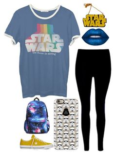 """""""May The Fourth Be With You"""" by pockynoodles ❤ liked on Polyvore featuring Junk Food Clothing, Casetify, Chicnova Fashion, Lime Crime and Converse"""