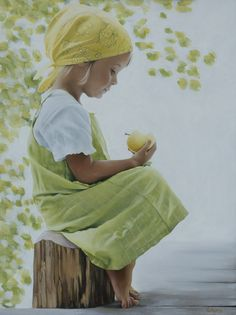 Yellow Apple by *georgeayers2000  Traditional Art / Paintings - Oil on Canvas