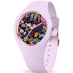 99€. Boitier rond silicone bleu 40mm taille M, cadran bleu motif fleur, bracelet silicone bleu, étanche 100m Ice Watch, Bracelet Silicone, Lilac, Purple, Violet, Quartz Watch, Smartwatch, Watches, Jewelry