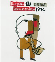 San Sebastian's Jazz Festival poster 1996