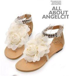 Sandals in beige