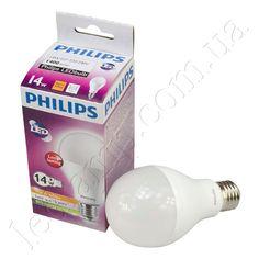 Лампа светодиодная PHILIPS E27-14W (warm white)  Является в настоящий момент лидером на рынке по яркости среди аналогов.