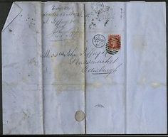 GB QV 1868 COVER-LETTER WITH 1d RED LONDON TO EDINBURGH -CAG 080415