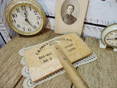 Antique Sheep Card - great typography and the tines make a cool way to display an old photo