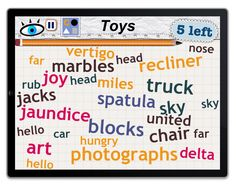 Word Mess: find 5 toys!