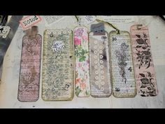 Junk Journal ~ Using Up Book Pages Ep 13 ~ Easy Bookmarks for Junk Journals! The Paper Outpost! :) Add to your Junk Journals! Make fast and simple Bookmarks . Altered Books Pages, Book Pages, Vintage Bookmarks, Vintage Journals, Handmade Journals, Handmade Bookmarks, Handmade Headbands, Book Page Crafts, Bookbinding Tutorial