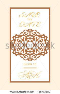 Diseo de corte lser tarjeta de decoracin matrimonio nepali lazercut vector wedding invitation template wedding invitation envelope for laser cutting lace gate folds stopboris Images