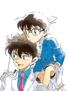 Conan and Kaito Kid