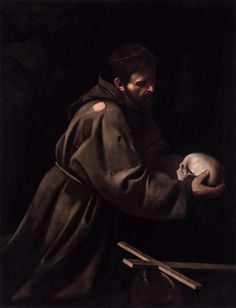Caravaggio - St Francis in Meditation [ more art: http://makeyourideasart.com ] Discover the coolest shows in New York at www.artexperience...