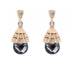 Náušnice Fascinator Dark #earrings #fashionjewelry #fashionjewellery #costumejewelry #costumejewellery #bijouterie #bijoux #fashion #style #accessories