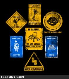 Useful Signs - Gamers. Click on the pic to visit the Tee Trove store.