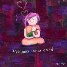 Precious Inner Child by Molly Hahn Tiny Buddha, Little Buddha, Buddah Doodles, Inner Child Healing, Working With Children, Little My, Illustrations, Yoga Meditation, Art For Kids