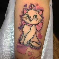 Marie from the aristocats done by jaclyn huertas tattoo for Tattoo lous piercing prices