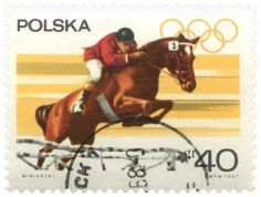 Polish Olympic Collector's Stamp Equestrian Event