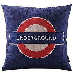 Decorative Pillows London Underground Throw Pillows 18 X 18 Inch Cushions