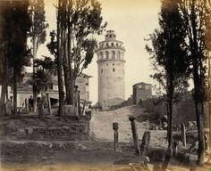 Galata kulesi, Istanbul, Turkey - 1880s
