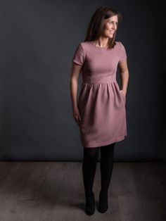 The Day Dress Sewing pattern, with a fitted bodice, gathered skirt and inner pockets, The Day Dress will be one of the prettiest dresses in your wardrobe.