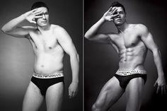 Como seriam os anúncios de cueca se as marcas usassem homens normais - Comunicadores.info