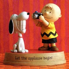 'Let the applause begin!' figurine.