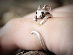 Ringe - Maus Ring ♥ Verstellbarer Ring - ein Designerstück von ISTANBLUE bei DaWanda