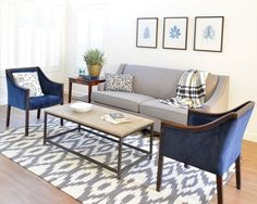 super Ideas for small living room furniture placement side tables Navy Living Rooms, Living Room White, Living Room Colors, Living Room Paint, Living Room Grey, Formal Living Rooms, Home Living Room, Living Room Designs, Living Room Decor