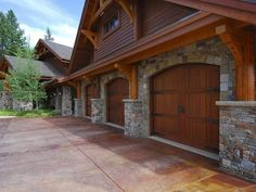 A craftsman style garage! I love these doors and would definitely like to have them in the next house. I don't want any cars to have to be parked outside. So we would need to plan ahead. Everyone needs to be able to pull in and walk in the house instead of having to get out in the rain or when it's dark out.