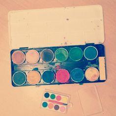 My new cute baby watercolors  #art #watercolors ##fine_arts #فن_تشكيلي #فنون_جميلة #fine_arts #فن_تشكيلي #رسم  ##taide
