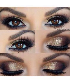 Top Trending Smokey Gold Eye Makeup Ideas