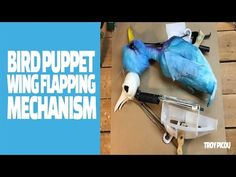 Bird Puppet Wing Flapping Mech - YouTube