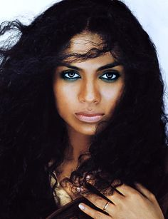 """Amel Larrieux. Her soul fills my heart with happiness.  Her song, """"make me whole"""" is my wedding song and embodies my love."""