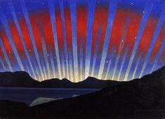 Luigi Russolo, Aurora boreale, 1938, olio su tela, Collezione privata, Lugano
