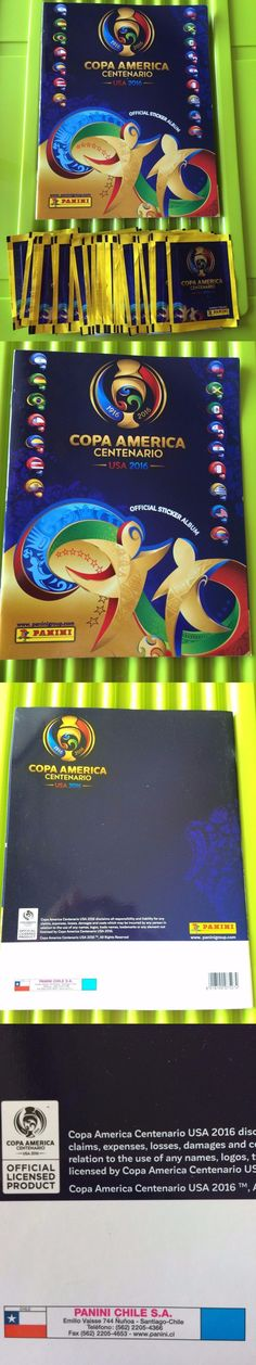 Sports Stickers Sets and Albums 141755: Panini 2016 Copa America Centenario 20 Packs (100 Stickers) + Album Chile -> BUY IT NOW ONLY: $30 on eBay!